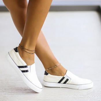 Espadrile dama albe ieftine tip Adidas