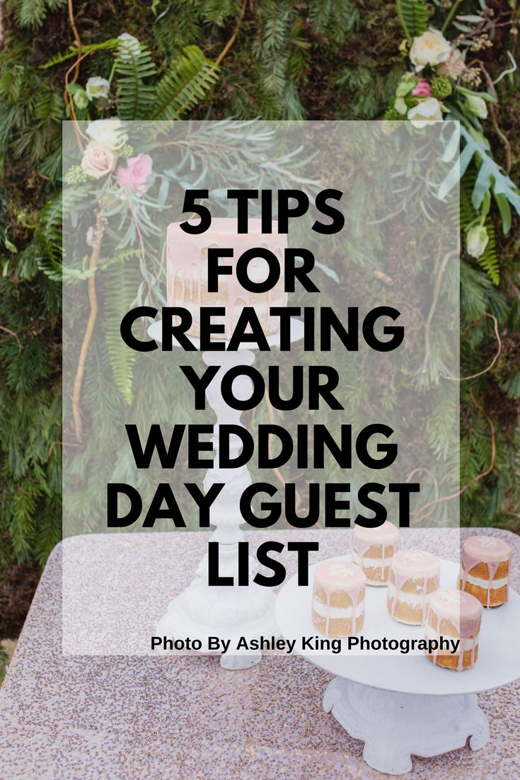It is so exciting to think who will all be attending your wedding and how fun it will be! Creating your wedding guest list is definitely one wedding task that takes a lot of time and consideration. Then finalizing that list can be a pain but we have got you covered. Try using these 5 easy tips to get that guest list completed.