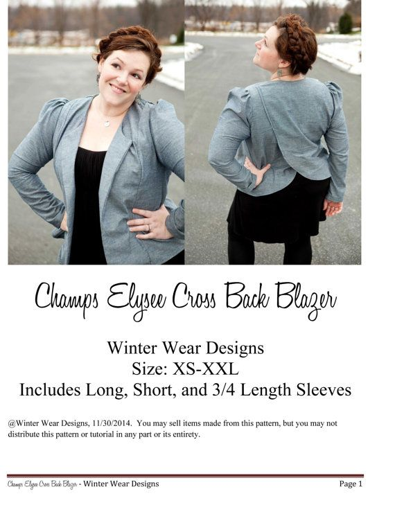 50+ best Blazer Sewing Patterns images by Mac on Pinterest | Sewing ...