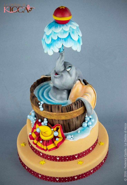 """Dumbo. Una cake realizzata per l'iniziativa benefica """"Un dolce sorriso"""""""