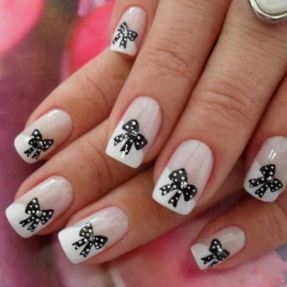 Stylish Nail Art Designs with Bows  #nail #naildesigns #nailart