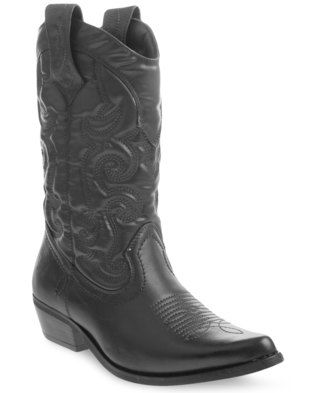 Embrace your rodeo dreams in the Westee Cowboy Boots by Bronx Women. This classic design showcases a pointed, upturned nose and a faux leather upper. Black in colour it boasts a heel measuring 4cm high, while embroidered patterns add the finishing touches. Perfect for everyday wear, team it with distressed denims and a checked shirt for a timeless western look.