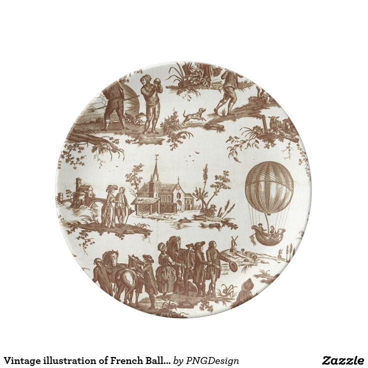 Vintage illustratie van de Franse Vlucht van de