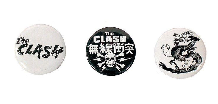 The Clash - Set of 3 Pin Badges 2.5cm 1inch NEW Pins Badge. #Rockbands #Pins #isradealcom