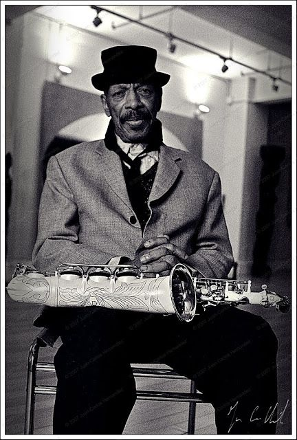 Ornette Coleman photo session at his home in New York, 2007 by Juan-Carlos Hernandez