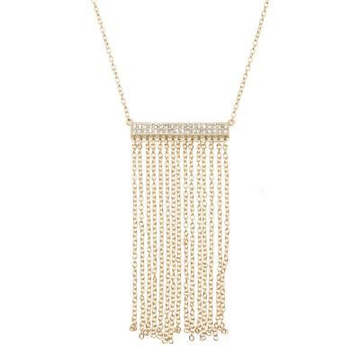 CZ Fringe Bar Necklace