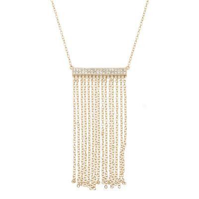 CZ Fringe Bar Necklace
