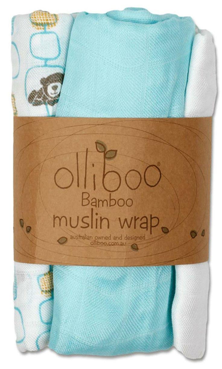 Olliboo Bamboo Muslin Wrap Set  