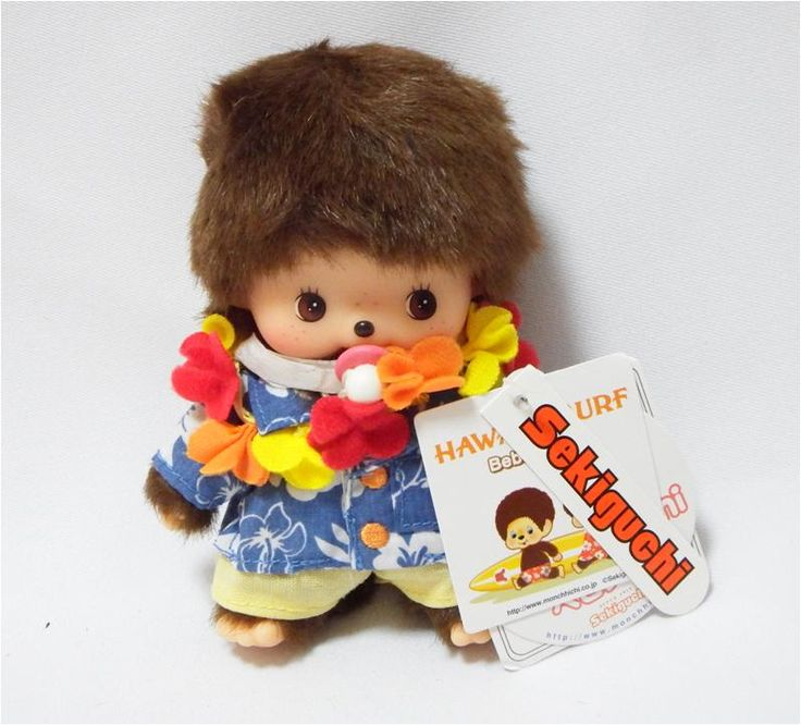 Bebichhichi 234120 - Bebichhichi Hawaii Boy. Authentic Bebichhichi doll from Sekiguchi. About 14cm. Suitable for child aged 6 years old and above. Ideal Birthday gift, Valentine's Day gift, Christmas gift, New Year gift, Children's Day gift and Housewarming gift! A favourite for Monchhichi & Bebichhichi doll collectors too!