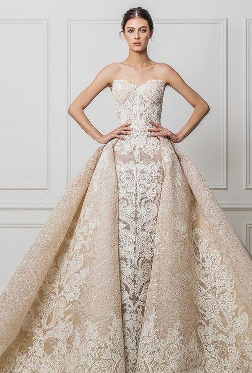 Featured Dress: Maison Yeya; Wedding dress inspiration.