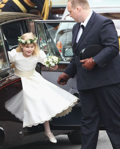 Bridesmaid Lady Louise Windsor arrives to attend the Royal Wedding of Prince William to Catherine Middleton at Westminster Abbey on April 29, 2011