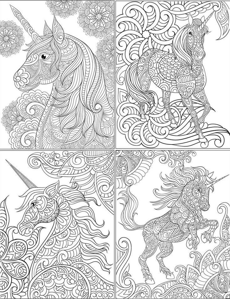 Fresh Unicorn Mandala Coloring Pages Collection | Unicorn ...