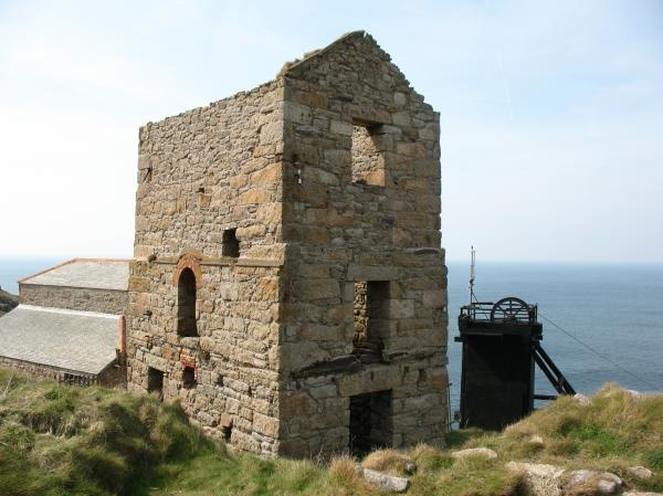 LEVANT MINE | Cornwall: 'A National Trust property. This part of Cornwall is covered in the remains of old tin mine workings, with their distinctive tall chimneys. The Levant Mine originally had tunnels extending over a mile out to sea, deep under the sea bed.'   ✫ღ⊰n