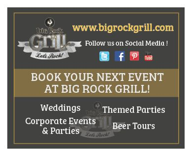 Graphic Design print for #calgary #brewery and #grill Big Rock Grill! #yyc #bigrock #beer
