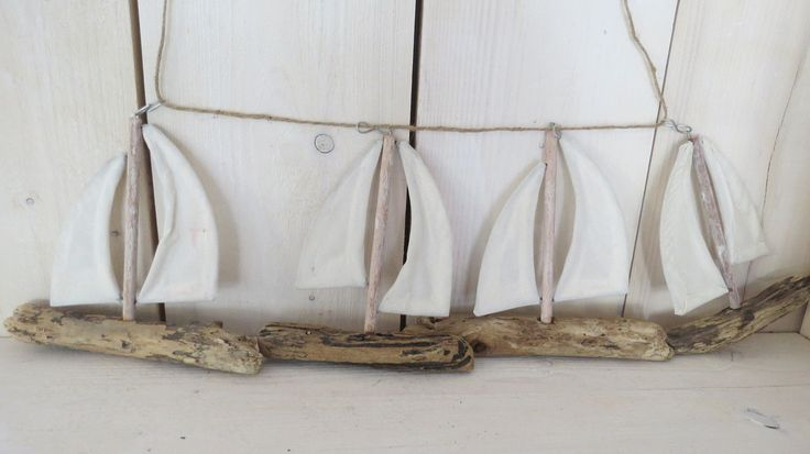 *Holz Schiffchen* weiss Holz *Maritim* Deko Holz Gerlande schiffchen*Maritim* | eBay