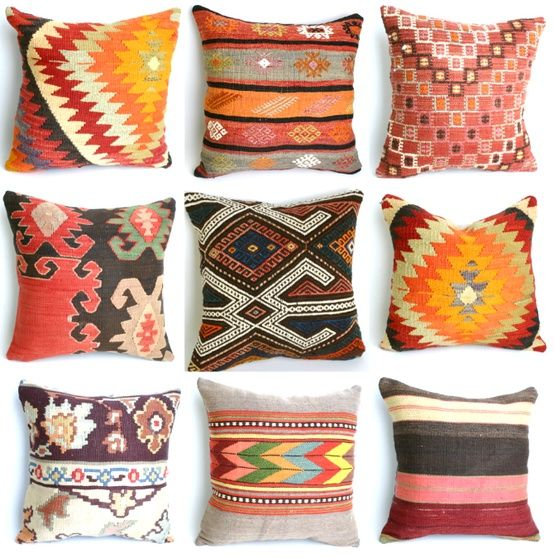 horse blanket pillows. aztec.