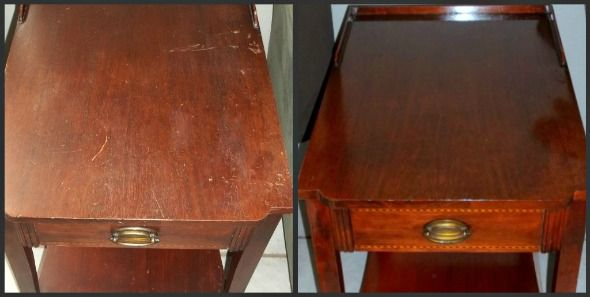 Refinish / restore with a good rub-down of boiled linseed oil & a few days to dry completely   #DIY #furniture