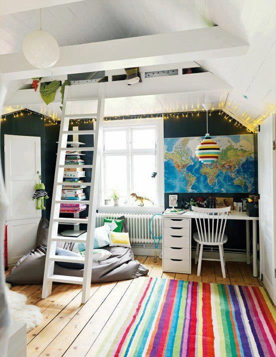 nice kids loft room