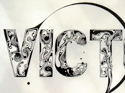 Victoria: Anton Shilinets, Style, Vintage, Calligraphy, Only, Typography, Design