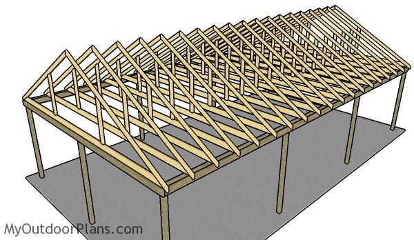 3 Car Carport Plans | MyOutdoorPlans | Free Woodworking Plans and Projects, DIY…