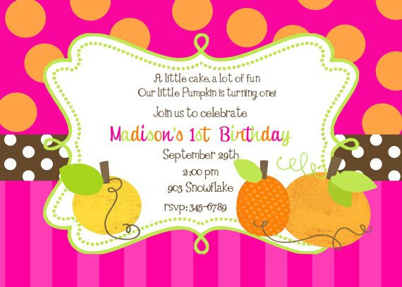 12 Pumpkin  Birthday Party invitations with by noteablechic, $12.50