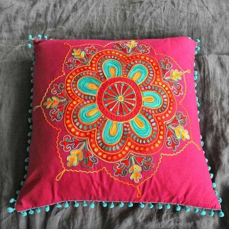 Embroidered Square Gypsy Caravan Cushions
