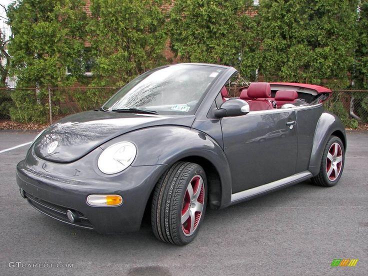 Dark grey car with burgundy interior-2005 Volkswagen New ...
