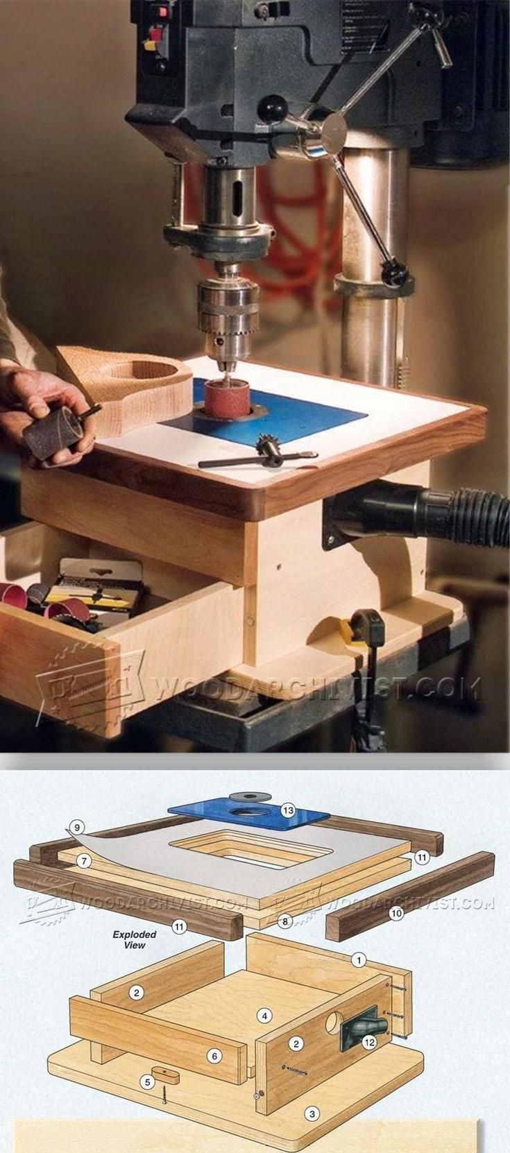 DIY Drill Press Sander - Sanding Tips, Jigs and Techniques | WoodArchivist.com