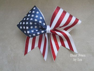 Stars and Stripes (Large)-4th of july cheer bow vist this website for amazing and affordable bows