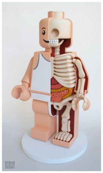 Jason Freeny Lego Man skeleton trio (2)