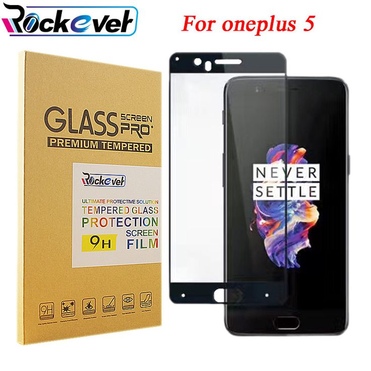 Rockever For Oneplus 3 3T 5 Full Screen Tempered Screen Protector,9H 2.5D Curved Edge Full LCD Screen Guard.With Retail Package //Price: $3.89//     #storecharger