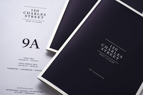 Michael Bierut has designed the identity and branding for 150 Charles Street, a luxury residential space in New York.