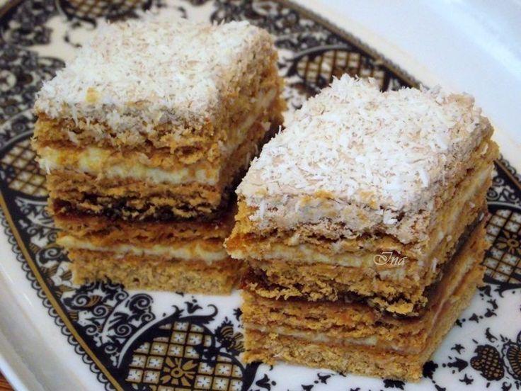 Reteta culinara Desert prajitura Mimoza din categoria Prajituri. Specific Romania. Cum sa faci Desert prajitura Mimoza