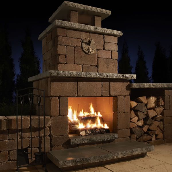 Outdoor Fireplace Kits, Outdoor Fireplaces, Fireplace Ideas, Outside  Fireplace, Brick Fireplace Wall, Outdoor Wood Burning Fireplace, Stone  Fireplace ...