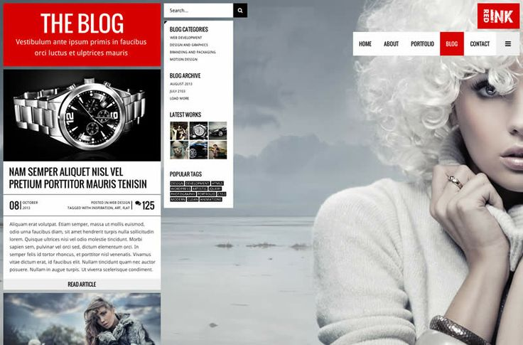 RedInk WordPress Theme