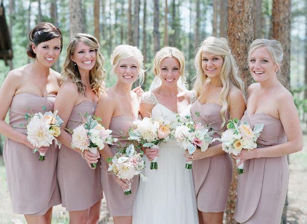 shabby chic Bridesmaids romantic rustic bridal dresses