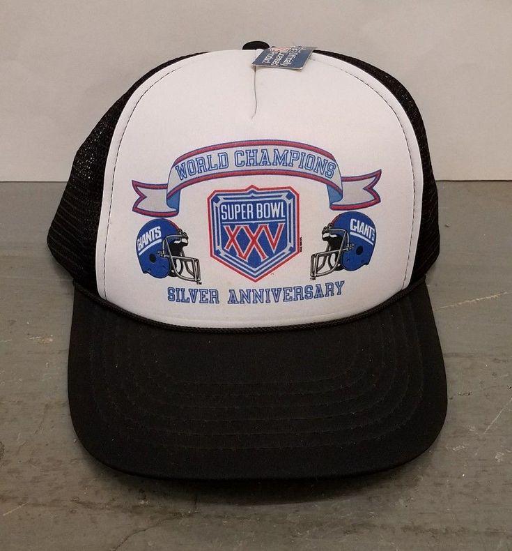 NWT Vintage 1990 Super Bowl XXV Champions New York Giants Football Snapback Hat. #Unbranded #BaseballCap