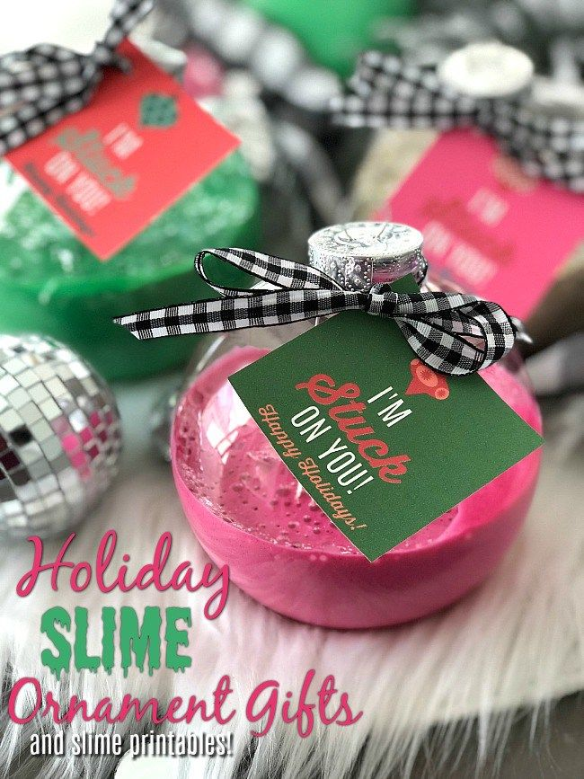 Slime Holiday Ornaments A Great Craft And Gift Idea For Kids And Tweens Ornament Gifts Upcycle Crafts Diy Holiday