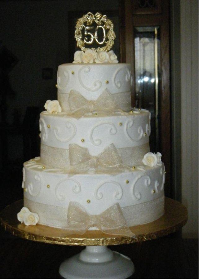 Best Anniversary Cake Images : 50th Wedding Anniversary Cake   Anniversary 50th wedding ...
