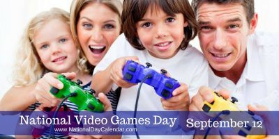 NATIONAL VIDEO GAMES DAY 🕹🎮 – September 12, 2016 | National Video Games Day is observed annually on September 12th. Video game players across the United States enjoy this day with much enthusiasm.  From their very earliest days, video games have gone on to become an art form, and industry.