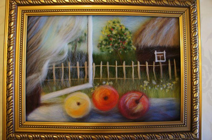 Яблоки на окне)