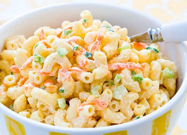 Рецепт салата с макаронами бантиком