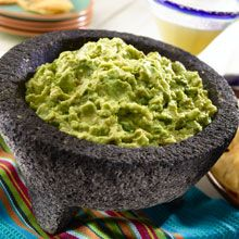 Nothing says fiesta quite like a delicious bowl of guacamole. Ripe, buttery avocados, mashed with fresh cilantro, bright lemon juice, fiery jalapeños and crunchy white onions is appetizer heaven!