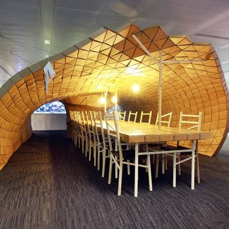 Manchester Designer Liam Hopkins Of Lazerian Used Waste Cardboard From Media Company Bloomberg To Construct A