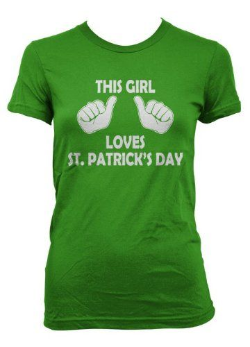 Women's This Girl Loves St. Patrick's Day T shirty « Holiday Adds