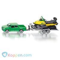 SIKU Auto met sneeuwscooter en aanhanger -  Koppen.com