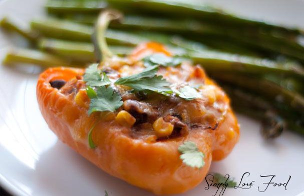 Southwestern Stuffed Peppers | Simply Love Food