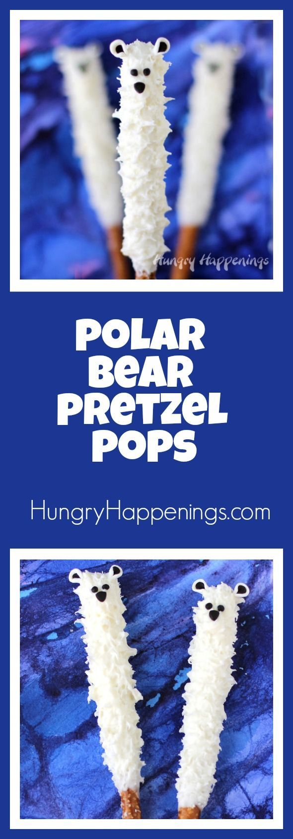Whether you have kids, or you're a kid at heart, you'll have a great time this winter making White Chocolate Polar Bear Pretzel Pops. They are an irresistible sweet and salty treat that are perfect for the holiday season.