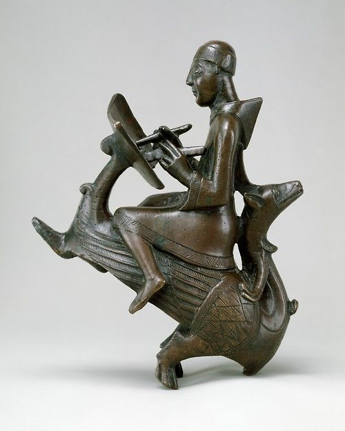 Monk-Scribe astride a wyvern, made in Germany in the mid 12th century