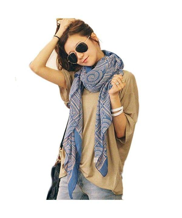 New Women Lady Fashion Floral Chiffon Long Soft Wrap Shawl Scarf Classic Scarves